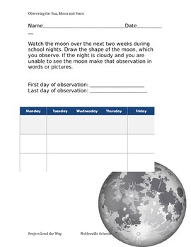 Phases of the moon assignment