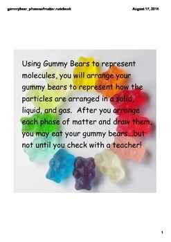 Phases/States of Matter in Gummy Bears