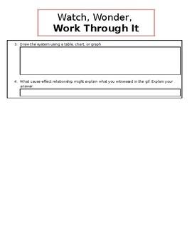 Phenomena Based Teaching: Intro Brainstorm Template