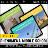 Phenomena – NGSS Middle School Science Bundle – Digital an