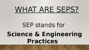 Phenomena & Science and Engineering Practices (SEPs)