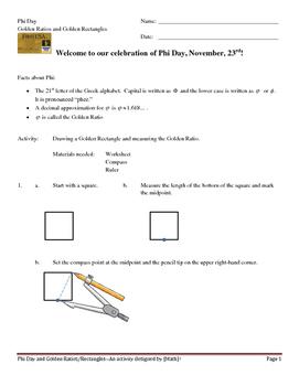 Phi Day (1) -- Golden Rectangles