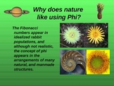 Phi:  The golden Ratio and golden rectangles