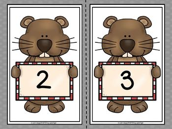 Phil Adds Up The Days:  LOW PREP Groundhog Themed Sorting Activity