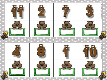 Phil Builds His Case:  LOW PREP Groundhog Day Themed Dominoes Activity
