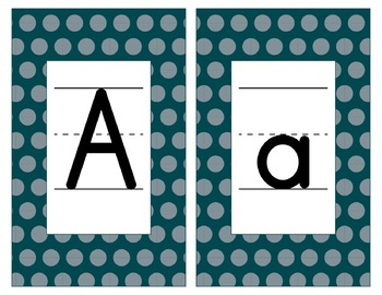 Philadelphia Eagles Inspired Green & Silver Alphabet Cards-Word Walls-Editable