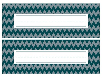 Philadelphia Eagles Inspired Green and Silver Editable Name Plates/Word Wall