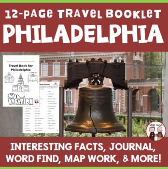 philadelphia vacation travel booklet by wise guys tpt