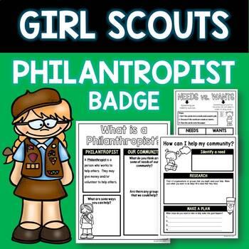 Philanthropist Badge Girl Scouts