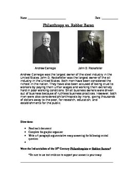 Philanthropists vs. Robber Baron Documents