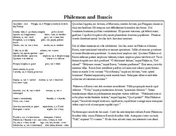 Philemon and Baucis - A Latin Unit