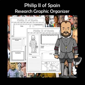 Philip II of Spain Biography Research Graphic Organizer