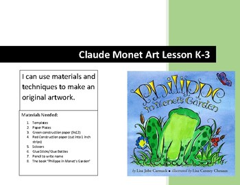 Philippe in Monet's Garden Art Lesson Claude Monet