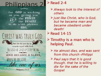 Philippians Power Point Notes