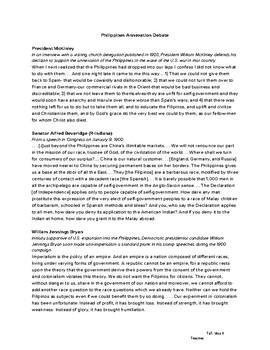 Philippines Annexation Debate