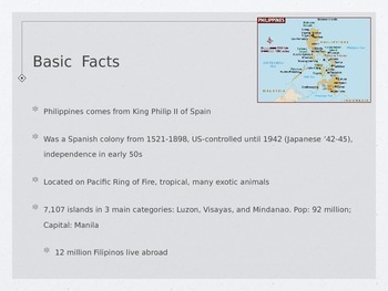Philippines Cultural Geography Presentation
