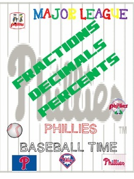 Phillies Baseball Math Combo 2nd-6th Grade