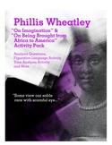 Phillis Wheatley Activity Pack