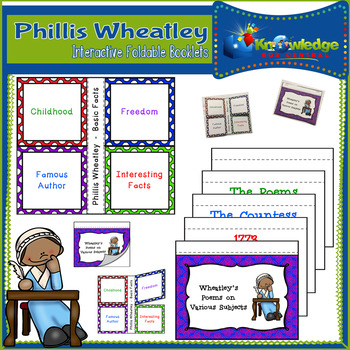 Phillis Wheatley Interactive Foldable Booklets - Black History Month