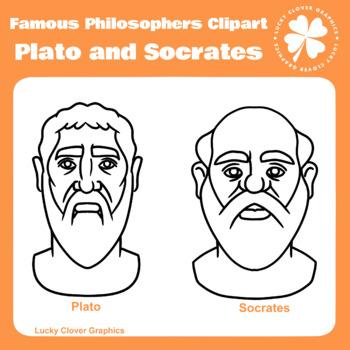 Philosophers Clipart   Plato and Socrates