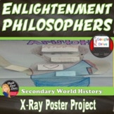Enlightenment Philosophers X-Ray Poster Activity Print & Digital