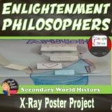 Enlightenment Philosophers X-Ray Poster Activity Print & Digital