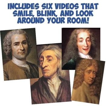 """Philosophers of the Enlightenment """"Magic Portrait"""" Lesson"""