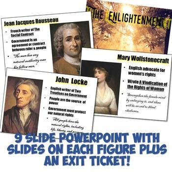 """Enlightenment Thinkers """"Magic Portrait"""" Lesson"""