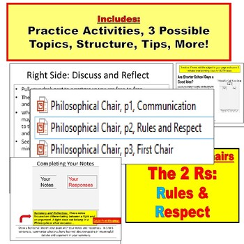 Philosophical Chairs : Class Debate PowerPoint