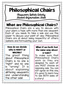 Philosophical Chairs Classroom Debate Activity