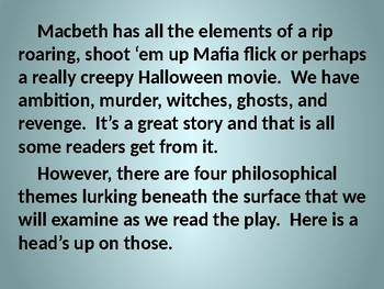 Philosophical Matters in Macbeth