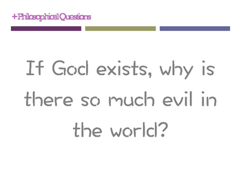 Philosophical questions posters