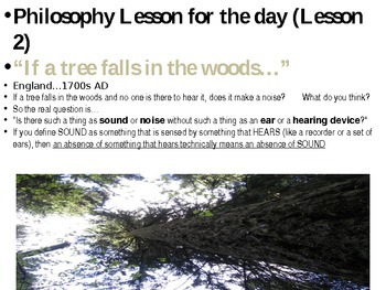 Philosophy Lesson of the Day