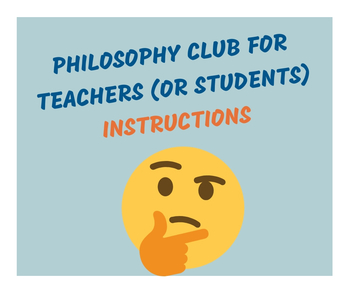 Philosophy Lunch Club (for teachers & students)