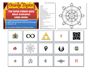 Philosophy & Religion Symbols Quiz [Perfect for end of term fun lessons!]