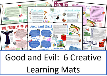 Philosophy and Ethics: Good and Evil Learning Mats / Revision Sheets