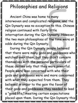Philosophy and Religion in Qin Dynasty China Pack