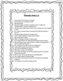 Philosophy for Kids - Open Ended Questions for Higher Orde