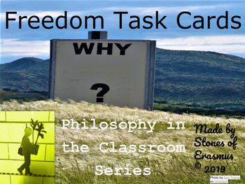 "16 Half-sheet ""Freedom Task Cards"" set on TpT"