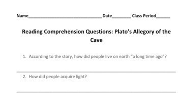 Philosophy in the Classroom: Plato's Allegory of the Cave in Plain Language