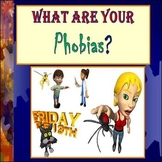 Middle School Psychology - Phobias Lesson, PowerPoint, Activity, and Activity