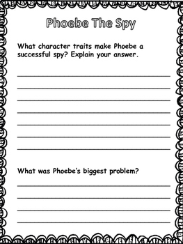 Phoebe The Spy Novel Printables