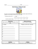 Phoebe the Spy- Book Review Graphic Organizer