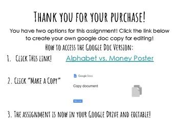 Phoenician Alphabet Vs. Lydian Coined Money Poster Project! Google + PDF!