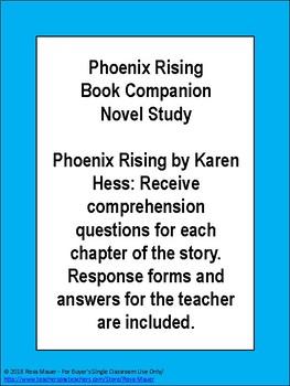 Phoenix Rising by Karen Hesse Book Unit