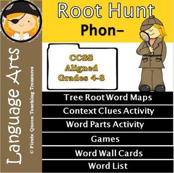 Phon Root Clues/CCSS Grades 4-8