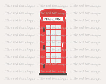 Phone Booth Clipart; London, Telephone