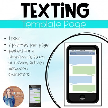 phone messenger texting template by faith and fourth tpt