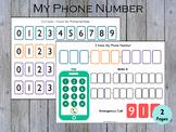 Phone Number Practice Printable, I Know My Phone Number, C