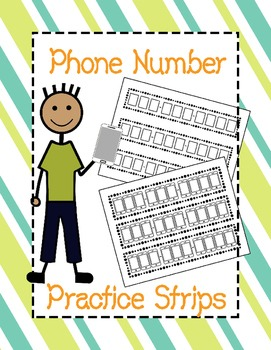 Free Phone Number Practice Strips